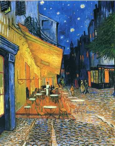 Van Gogh - Cafe Terrace, Place du Forum, Arles - 1888