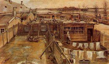 Van Gogh - Carpenter`s Workshop Seen from the Artist`s Studio - 1882