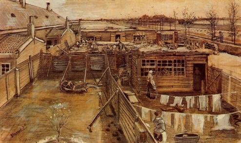 Van Gogh - Carpenter`s Workshop Seen from the Artist`s Studio - 1882
