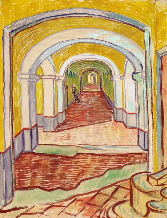 Van Gogh - Corridor in the Asylum - 1889