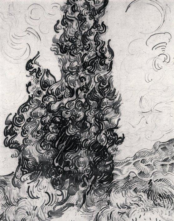 Van Gogh - Cypresses - 1889