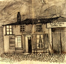 """Van Gogh - """"Au Charbonnage"""" Café - 1878"""