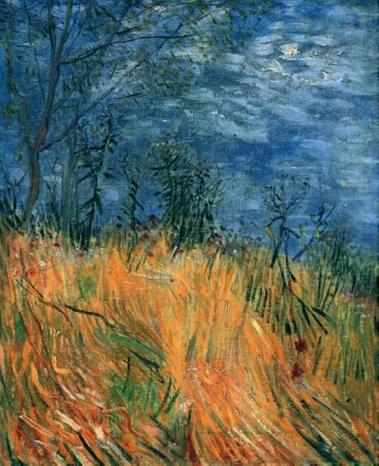 Van Gogh - Edge of a Wheatfield with Poppies - 1887