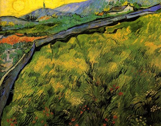 Van Gogh - Field of Spring Wheat at Sunrise - 1889
