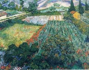 Van Gogh - Field with Poppies - 1889
