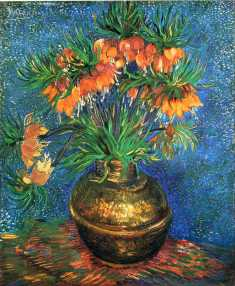 Van Gogh - Fritillaries in a Copper Vase - 1887
