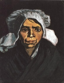 Van Gogh - Head of a Peasant Woman with White Cap - 1884
