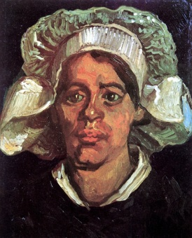Van Gogh - Head of a Peasant Woman with White Cap - 1885