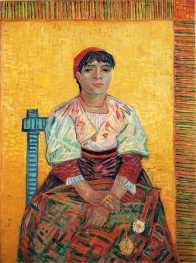 Van Gogh - Italian Woman (Agostina Segatori) - 1887