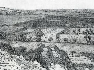 Van Gogh - La Crau Seen from Montmajour - 1888