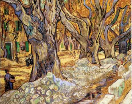 Van Gogh - Large Plane Trees - 1889