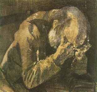 Van Gogh - Man with his head in his hands - 1882