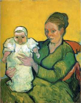 Van Gogh - Mother Roulin with Her Baby - 1888