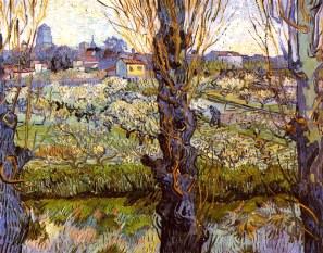 Van Gogh - Orchard in Bloom with Poplars - 1889