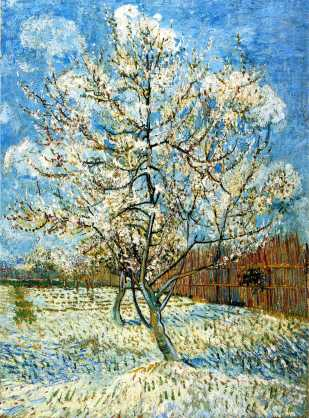 Van Gogh - Peach Trees in Blossom - 1888