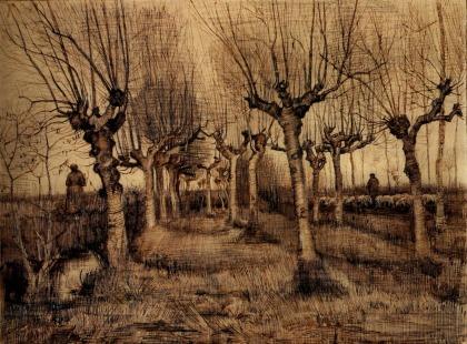 Van Gogh - Pollard Birches - 1884