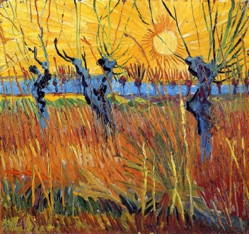 Van Gogh - Pollard Willows and Setting Sun - 1888