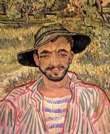 Van Gogh - Portrait of a Young Peasant - 1889