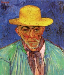Van Gogh - Portrait of Patience Escalier, Shepherd in Provence - 1888
