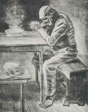 Van Gogh - Prayer Before the Meal - 1882