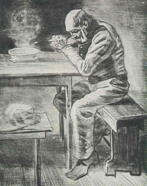 Van Gogh - Prayer Before the Meal - 1882