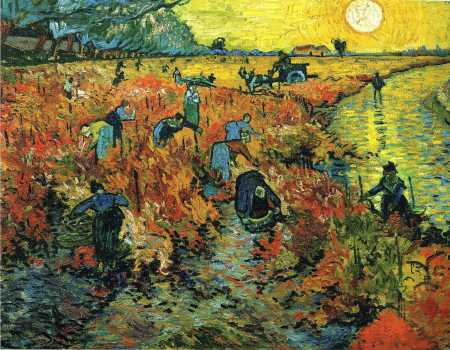 Van Gogh - Red Vineyards at Arles - 1888