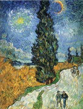 Van Gogh - Road with Cypresses - 1890