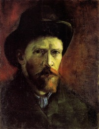 Van Gogh - Self-Portrait in Dark Felt Hat - 1886