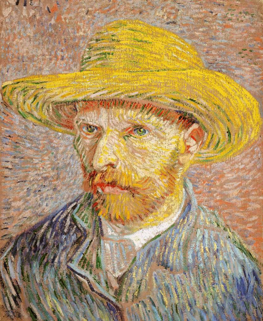 Van Gogh - Self-Portrait in Straw Hat - 1887