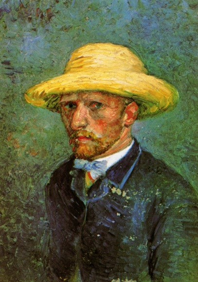 Van Gogh - Self-Portrait in Straw Hat (2) - 1887
