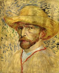 Van Gogh - Self-Portrait in Straw Hat (3) - 1887