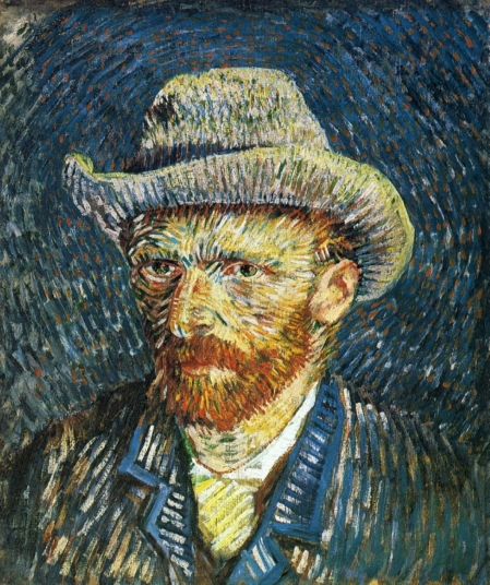 Van Gogh - Self-Portrait in Straw Hat (4) - 1887