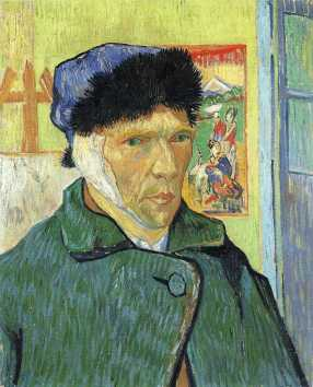 Van Gogh - Self-Portrait with Bandaged Ear (2) - 1889