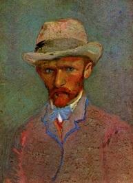 Van Gogh - Self-Portrait with Gray Felt Hat - 1887