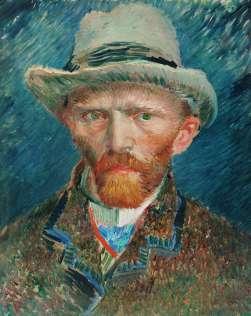 Van Gogh - Self-Portrait with Gray Felt Hat (2) - 1887