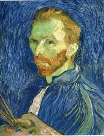 Van Gogh - Self-Portrait with Pallette - 1889