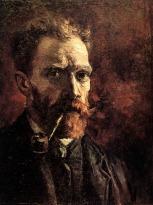 Van Gogh - Self-Portrait with Pipe - 1886