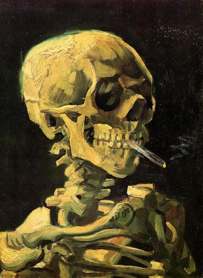Van Gogh - Skull with Burning Cigarette - 1885