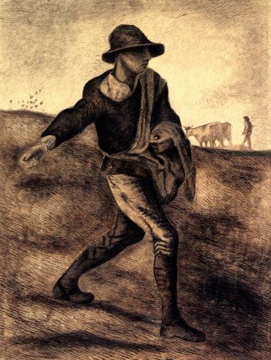 Van Gogh - Sower (after Millet) - 1881