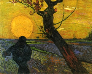 Van Gogh - Sower with Setting Sun - 1888