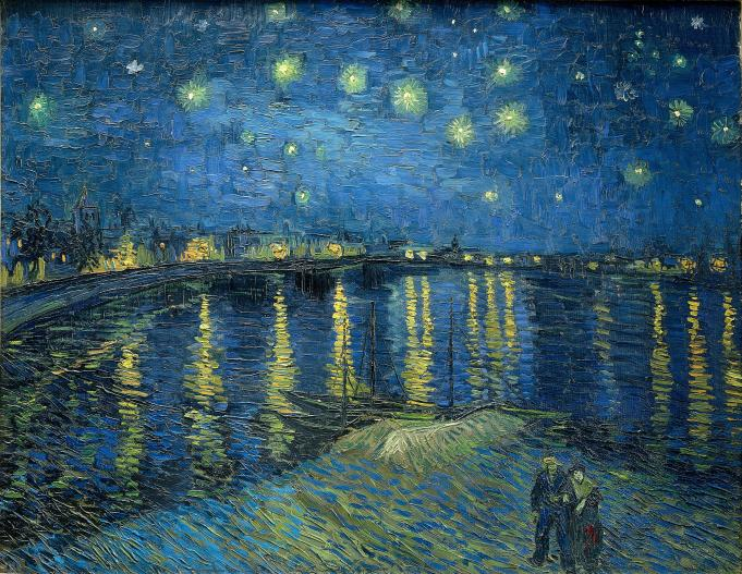 Van Gogh - Starry Night Over the Rhone - 1888