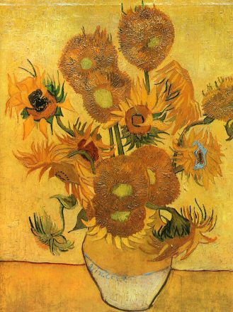 Van Gogh - Still Life - Vase with Fifteen Sunflowers - 1888