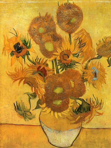 Van Gogh - Still Life - Vase with Fifteen Sunflowers - 1888
