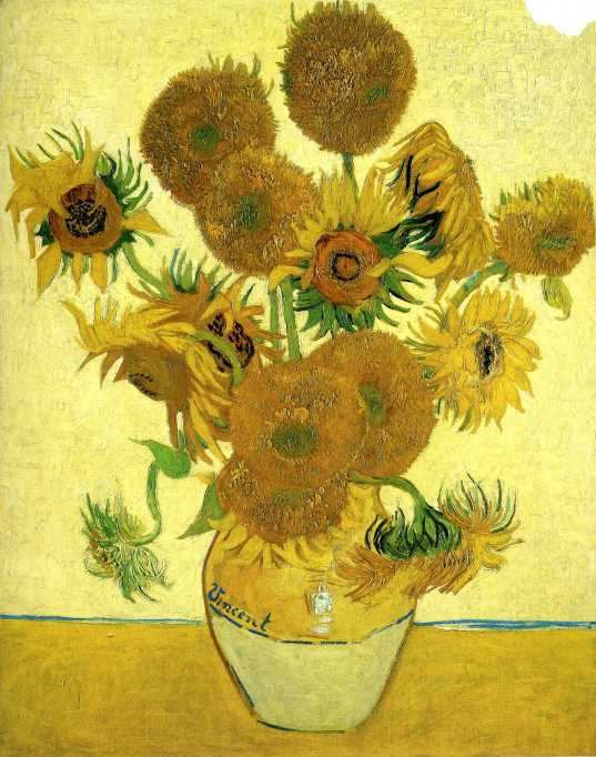 Van Gogh - Still Life Vase with Fifteen Sunflowers (2) - 1888