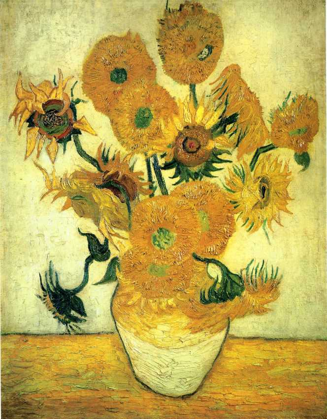 Van Gogh - Still Life, Vase with Fourteen Sunflowers - 1889