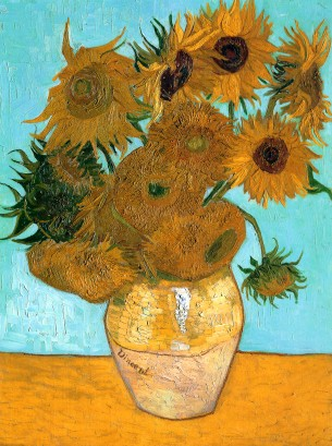 Van Gogh - Still Life, Vase with Twelve Sunflowers - 1889
