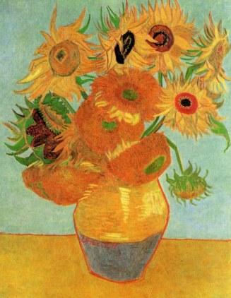 Van Gogh - Still Life, Vase with Twelve Sunflowers (2) - 1889