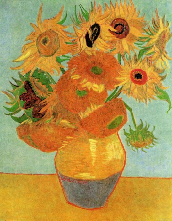 Van Gogh - Still Life, Vase with Twelve Sunflowers (2) - 1889