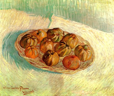 Van Gogh - Still Life with Basket of Apples (to Lucien Pissarro) - 1887