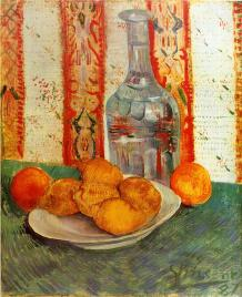 Van Gogh - Still Life with Decanter and Lemons on a Plate - 1887